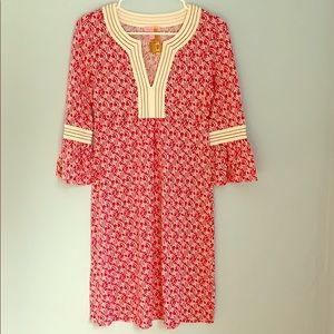 Lily Pulitzer dress or coverup in pink and white